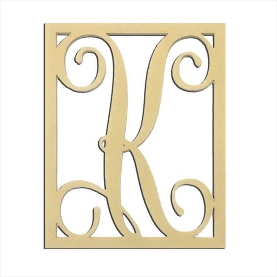 """14"""" Monogram Capital Letter K"""
