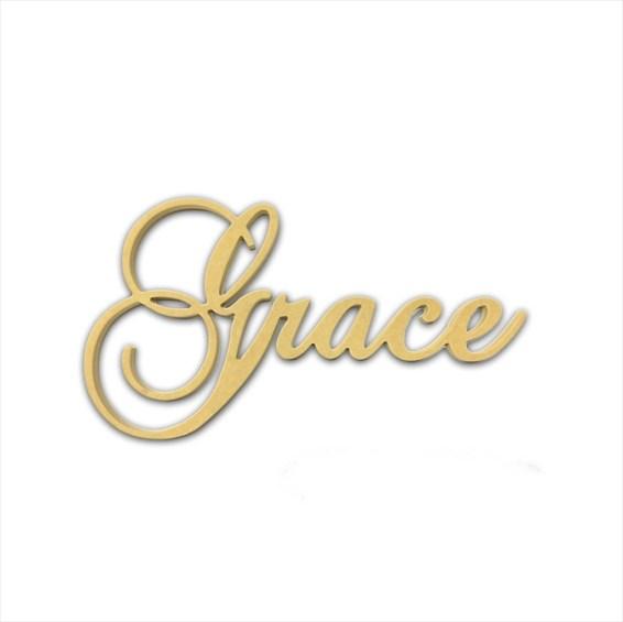 """10"""" Script Cursive Text Word (Grace)"""