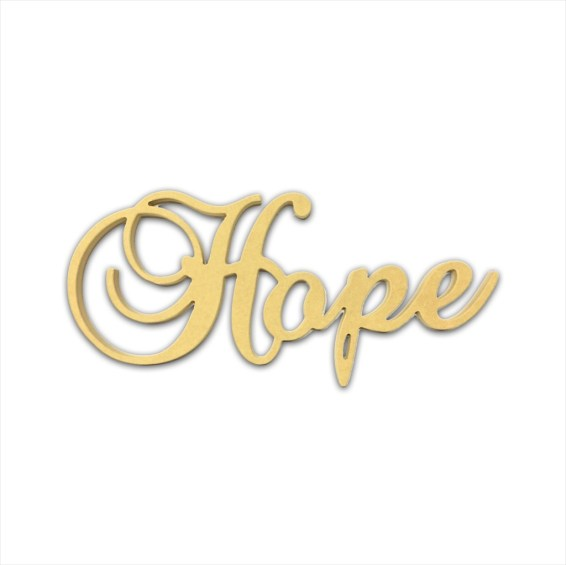 "10"" Script Cursive Text Word (Hope)"