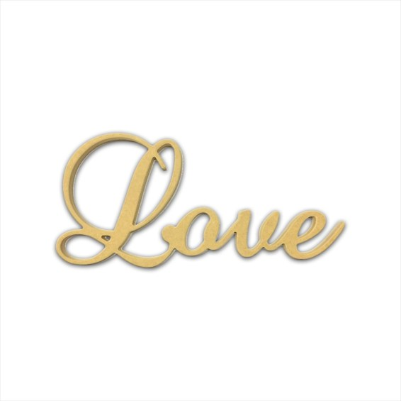 "10"" Script Cursive Text Word (Love)"