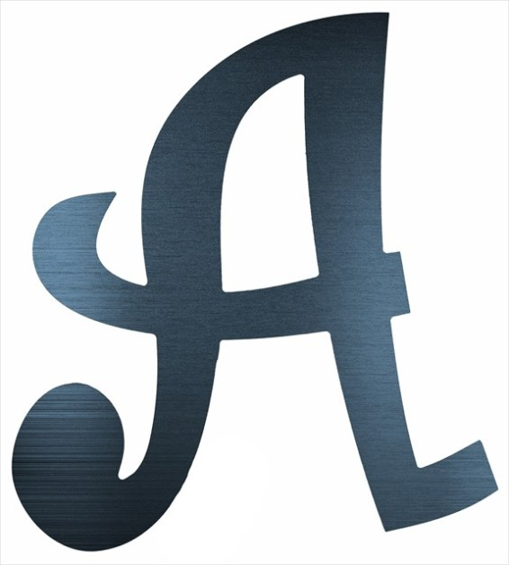 "Curly Letter A (4"")"