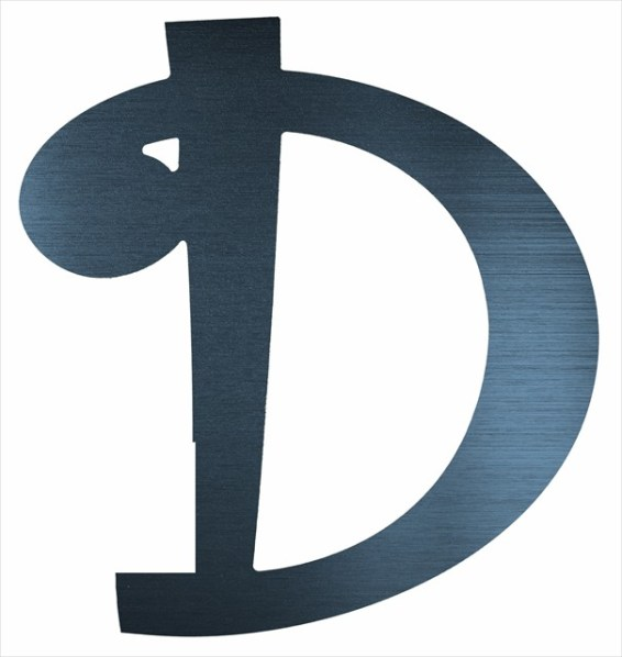"Curly Letter D (4"")"