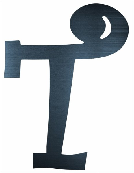 """Curly Letter T (2"""")"""