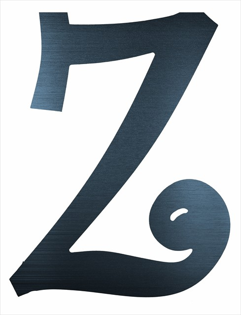 """Curly Letter Z (4"""")"""