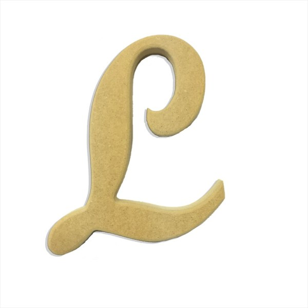 """6"""" Script Cursive Letter L"""