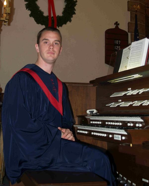 Michael Goucher at the Zion UCC organ