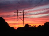 Sunset in the midwestern US