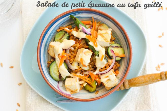 Salade petit épeautre tofu