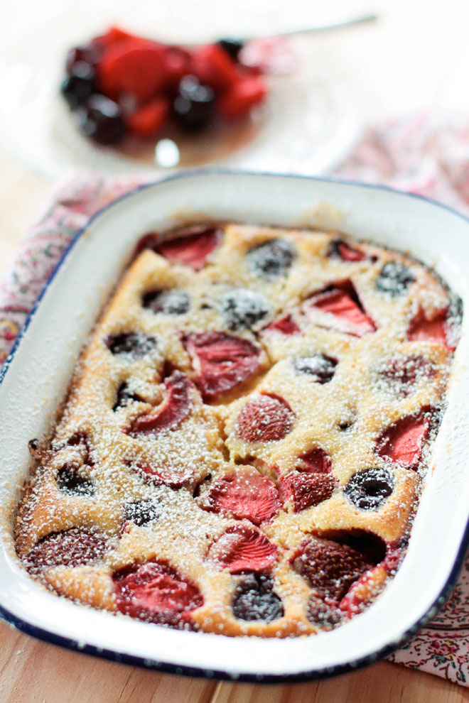 Clafoutis brebis fruits rouges