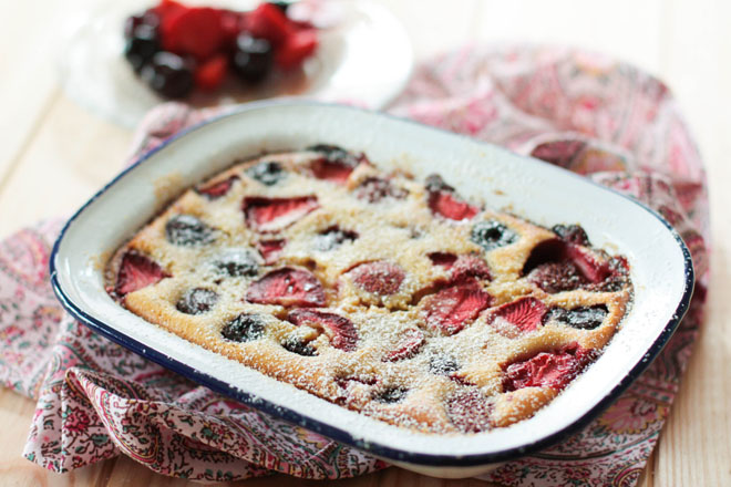 Clafoutis brebis fruits rouges'