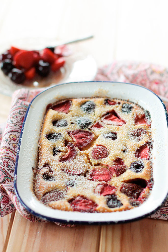 Clafoutis fruits rouges brebis