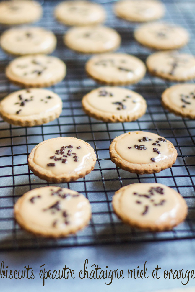 biscuitsépeautrechataignemielorange