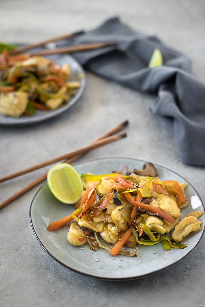 wok knepfle végétarien