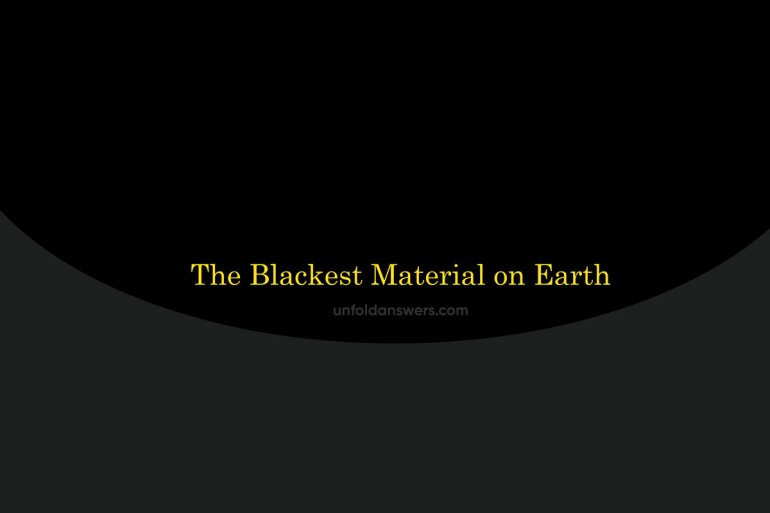 blackest material on earth
