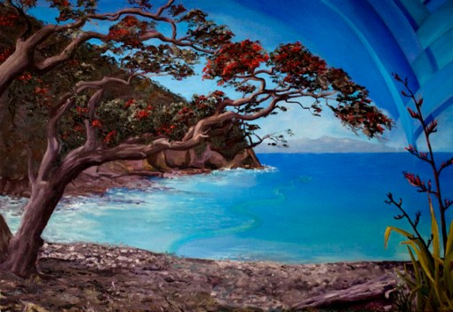 "Stony Bay oil on canvas 28x40""       ©2010 Kadira Jennings"