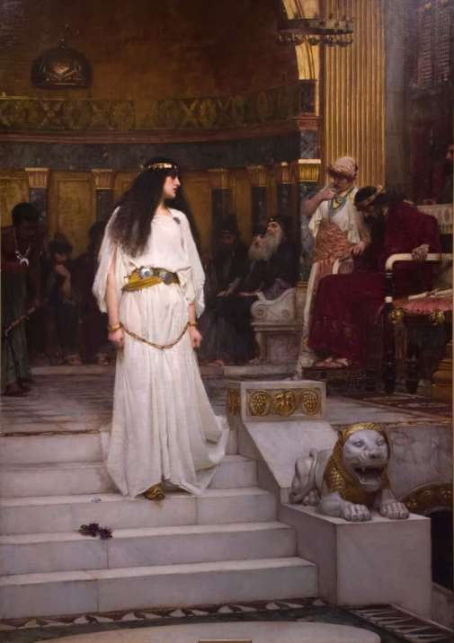 Mariamne Leaving the Judgement Seat of Herod' by J. W. Waterhouse
