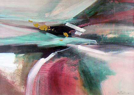 Journey II  Contemporary abstract painting by Eva Macie