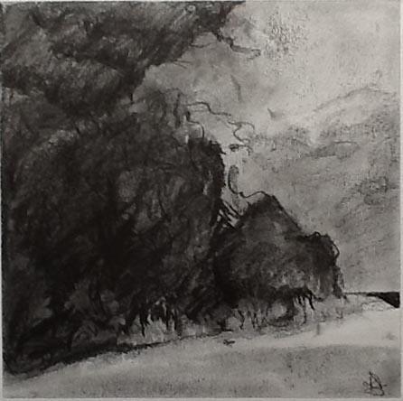 Gathering Storm - Charcoal Landscapes