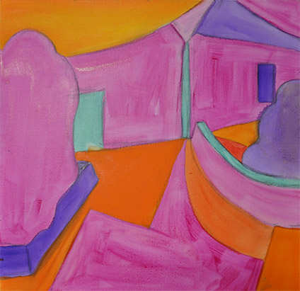 Magenta House underpainting