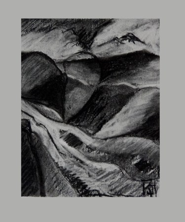 charcoal drawings,Landscapes of the heart II