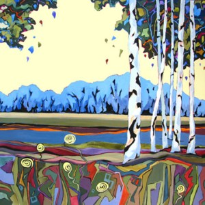 Artistic fingerprint Birch Banter Carolee Clark