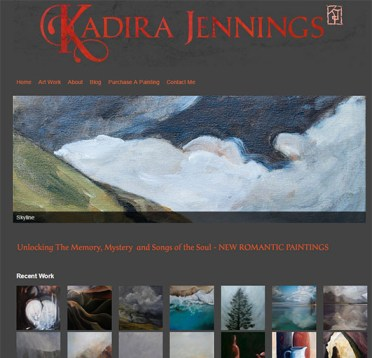 Kadira Jennings -artists website,front page