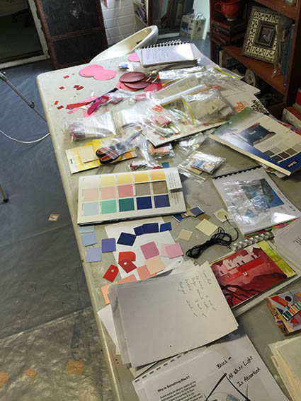 Studio News,Paint chips for Colour workshop