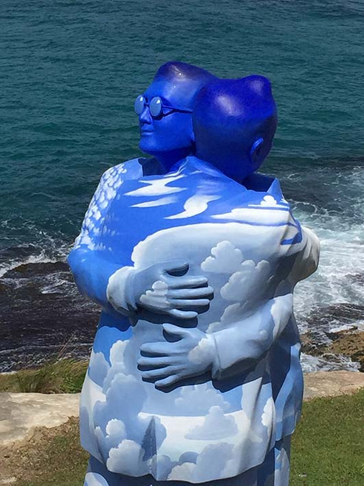 Sculpture by the sea,Under One Sky - Stephen Marr