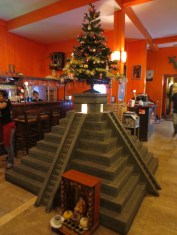 Another view of Angkor, at ¡Viva! Mexican restaurant in Siem Reap. (Note: best Mexican food we've had since September.)