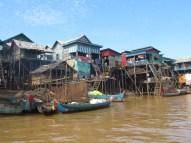 Kampung Phlok floating village, which we toured by (duh) boat. It's like, errr, the Venice of Cambodia.