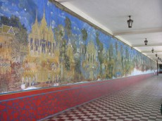 Amazing murals of the Ramayana. Unfortunately, they're in just terrible shape.