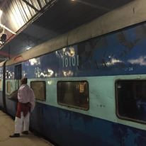 The train awaits