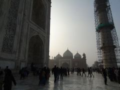 From the front of the Taj Mahal