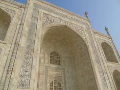The exterior of the Taj tells the story of paradise.