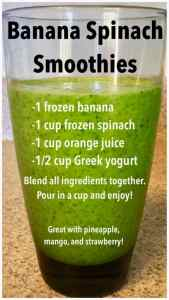 Banana spinach vegetable smoothie for picky toddlers #unfrazzledmama #smoothie #bananasmoothie #vegetablerecipes