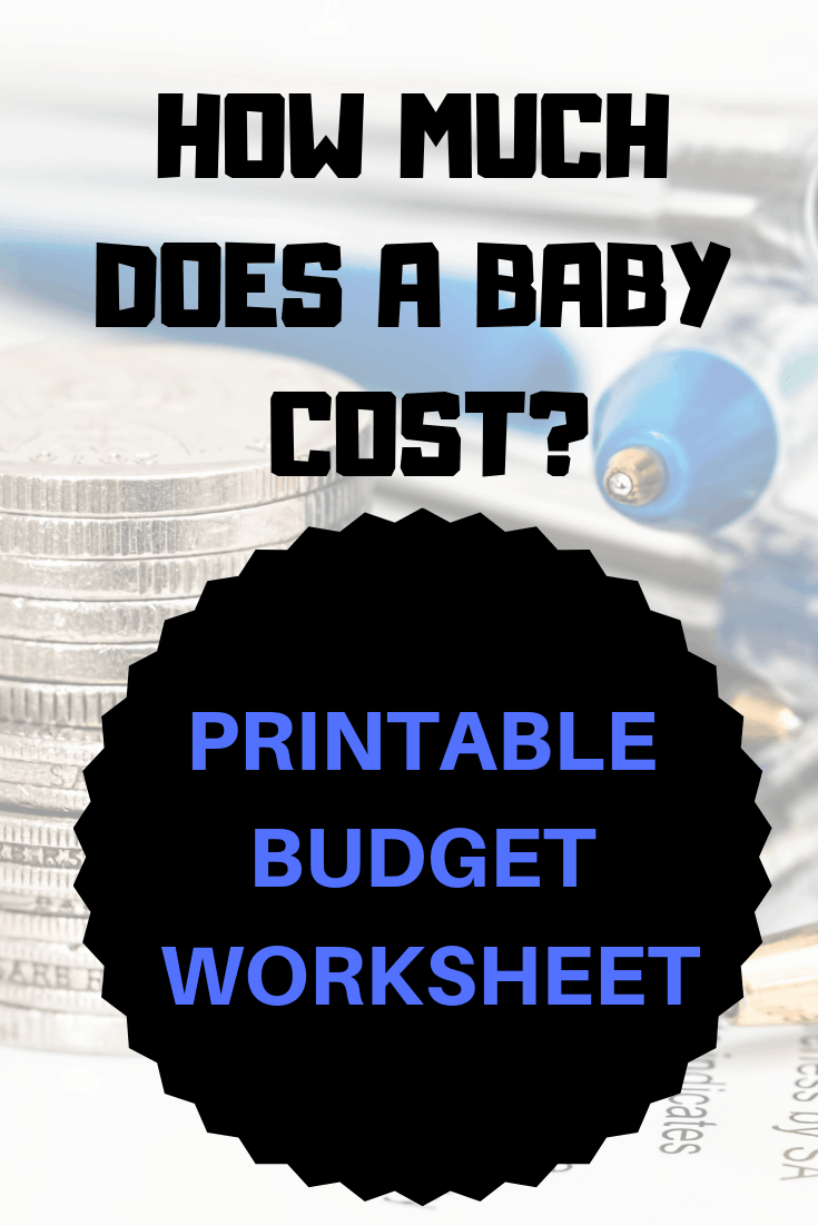 Living on minimum wage? Here's how to prepare for a baby on a budget with this printable baby budget worksheet. #baby #budget