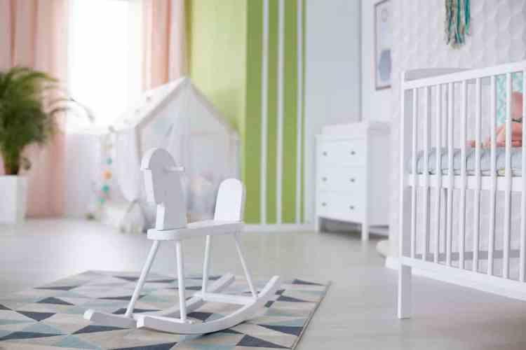 minimalist baby nursery room