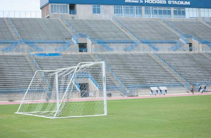 Hodges Stadium is where the UNF Men's soccer team practices, and plays, throughout the fall season.