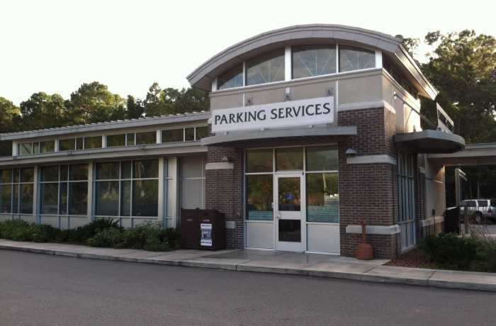 Parking Services has run out of Housing A permits for several years. The new garage will have three floors for housing permits. Photo by Rebecca Rodriguez
