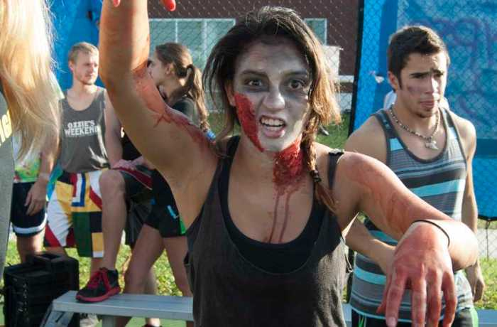 Fernanda Robles, UNF student, dresses as a zombie. Photo by Camille Shaw