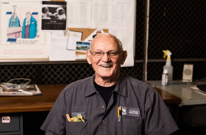 Jack of all trades: UNF holds the latest career for octogenarian working as a maintenance mechanic
