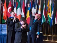 Garth Sangree honored at 2015 Spring Graduation