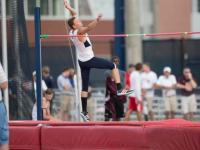 Harris reached 2.09m before failing to achieve the 2.13m jump.   Photo by Morgan Purvis