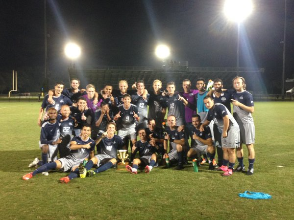 UNF men's soccer have won back-to-back River City Rivalry matches against JU.   Photo courtesy of UNF Athletics.