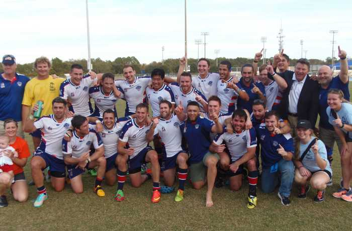 USA rugby league team after beating Canada.   Photo by Al Huffman