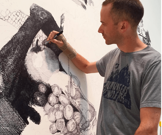 Exposing Gluttony: MOCA Sponsors muralist Ethan Murrow for newest Project Atrium