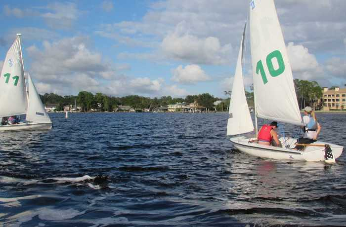Boats practicing at the Epping Forest Yacht Club Photo by Joslyn Simmons