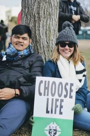 Joshua Nagales and Mikaela Benedict. Photo courtesy of Catholic Ospreys