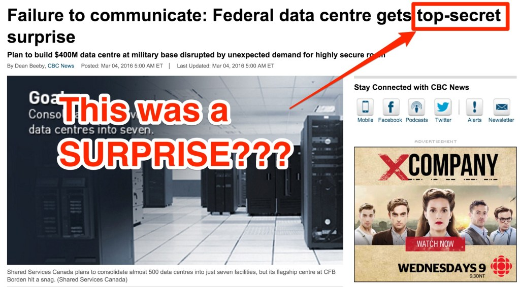 Shared Services Canada Surprise