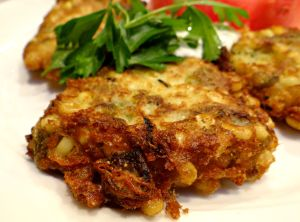 Fresh Corn and Green Chile Fritters